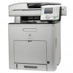 Canon MF9220CDN Color Laser Fax, Copier, Printer, Scanner w/Network and Duplex  Specifications:      ~33.6 Kbps / 200 speed dials     ~Up to 22 cpm / ppm     ~Up to 2400 x 600 dpi     ~100 and 250 sheet trays     ~50 sheet DADF     ~8.5 x 14 platen/paper size     ~65,000 page duty cycle     ~Full auto duplex fx/co/pt/sc     ~3.5 color LCD & scroll wheel     ~2 USB, Ethernet     ~384 MB (Windows / Mac)     ~1 year limited warranty     ~21.5 x 20.8 x 24.9 / 96 lbs     ~Uses: CRG111 series toners
